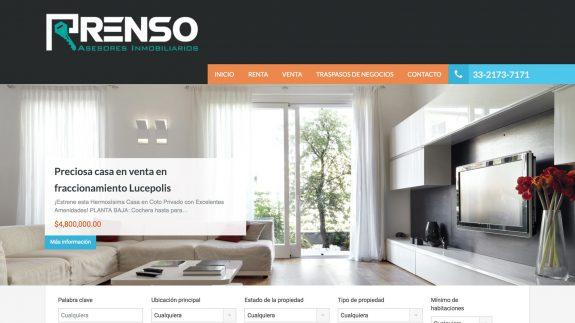 Web Renso inmuebles